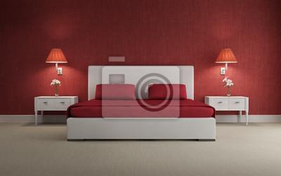 Camera Da Letto Vintage Moderno : Lusso rosso sexy passionale vintage moderno front camera da
