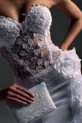 Quadro luxe sposa in abito aderente, catalogo fotografico