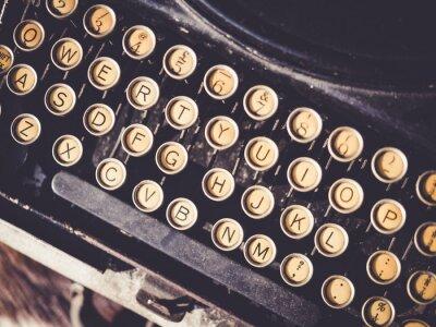 Quadro Macchina da scrivere antica Vintage oggetto di sfondo
