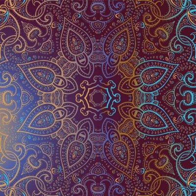 Quadro Mandala. Indian pattern decorativo.