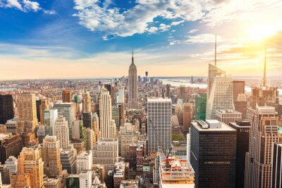Quadro Manhattan aerial view
