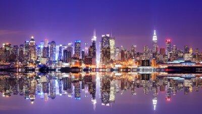 Quadro Manhattan Skyline con le riflessioni