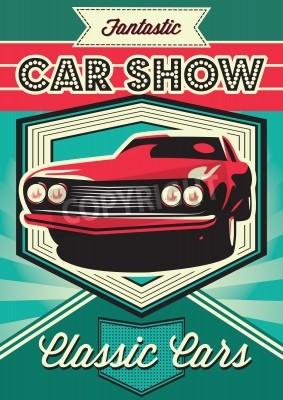 Quadro Manifesto d'epoca per l'esposizione di automobili