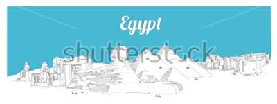 Quadro Mano di EGITTO che disegna l'istruzione panoramica di schizzo