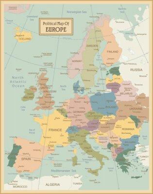 Quadro Map.Layers Europa-altamente dettagliato usati.