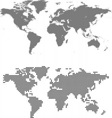 Quadro mappa del mondo