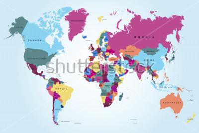 Quadro Mappa del mondo politico