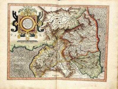 Quadro Mappa del Vintage