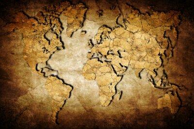 Quadro Mappa della Terra