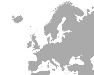 Quadro Mappa dettagliata dell'Europa
