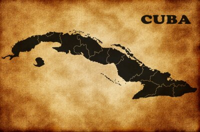 Quadro Mappa di Cuba