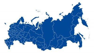 Quadro Mappa di Russia