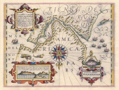Quadro Mappa di Stretto di Magellano