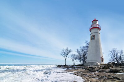 Quadro Marblehead Lighthouse Winter Scene
