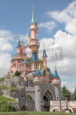 Quadro Marne-la-Vallée, Francia - 1 luglio 2011 - Il Castello della Bella Addormentata a Disneyland Resort Paris.