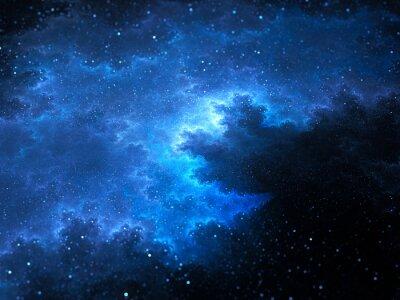 Quadro Megical spazio nebulosa frattale con stelle