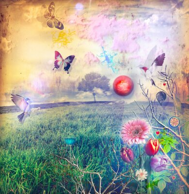 Quadro Meraviglie con fiori colorati