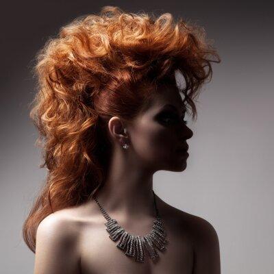 Quadro Moda ritratto di donna di lusso con i gioielli.