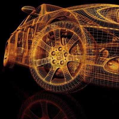 Quadro Modellini di automobili 3d