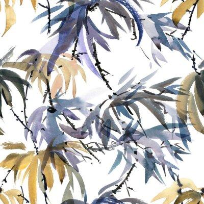 Quadro Modello acquarello foliato