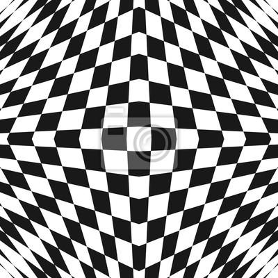 Modello Astratto A Quadretti Geometrico Bianco E Nero Di Vettore