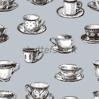 Quadro modello delle tazze da tè