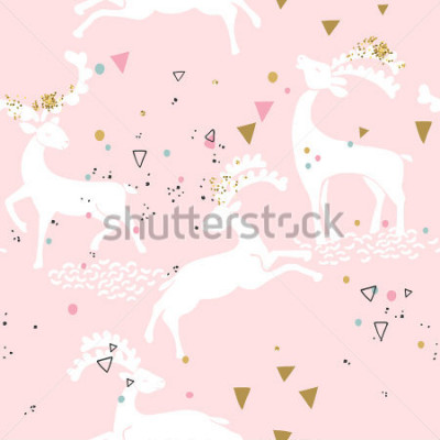 Quadro modello di cervo senza cuciture