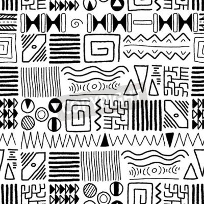 Quadro modello di etnia afro - indigeno arte. Africa stile di design.