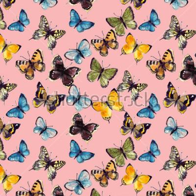 Quadro modello di farfalla dell'acquerello