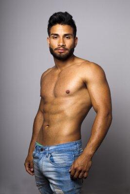 Quadro Modelo masculino Musculoso con torso desnudo