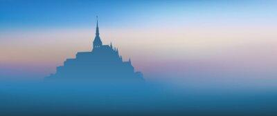 Quadro Mont St Michel - panoramique - Aube