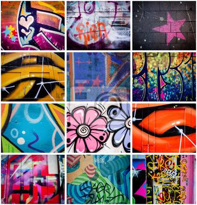 Quadro Montage de graffitis