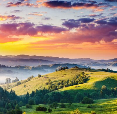 Quadro montagne del paesaggio