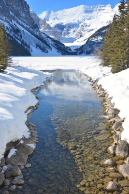 Quadro Montagne e il fiume