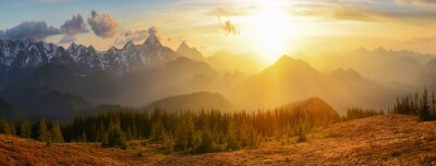 Quadro Montagne Tramonto