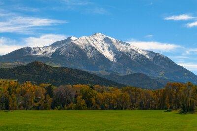 Quadro Monte Sopris Elk montagne del Colorado - colori autunnali