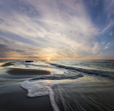 Quadro Morski pejzaż, fale rozbijające się o morski Brzeg