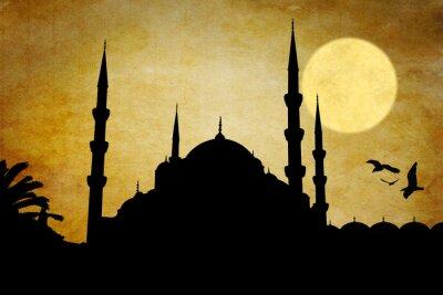 Quadro Moschea silhouette