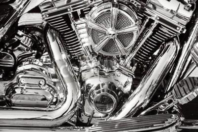 Quadro Moto con parti cromate