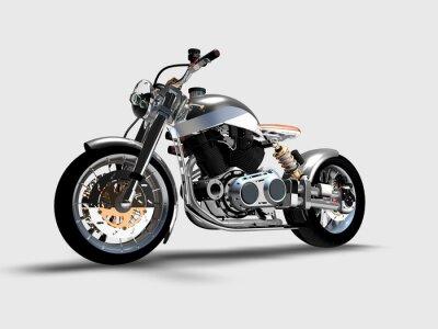 Quadro Moto cromata