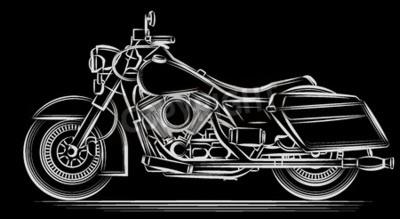 Quadro moto vettore