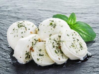 Quadro Mozzarella e basilico.