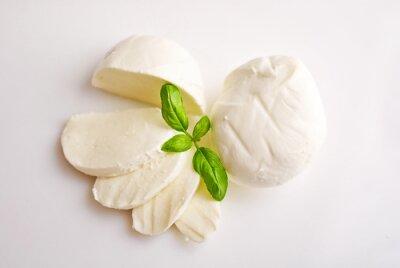 Quadro mozzarella fresca con basilico
