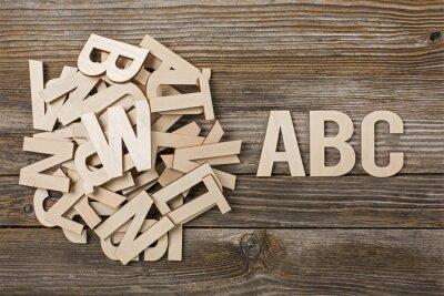Quadro Mucchio di Lettere ABC