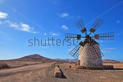 Quadro Mulino a vento su Fuerteventura, Isole Canarie, Spagna