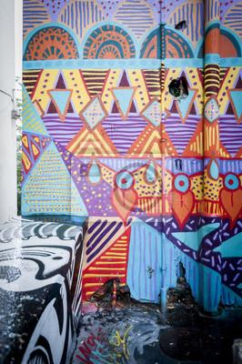 Quadro Mur de graffiti Coloré