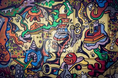 Quadro Mur de graffitis