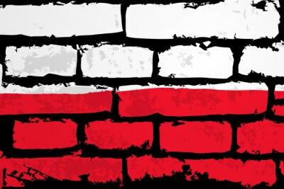 Quadro mur flaga polska WEKTOR