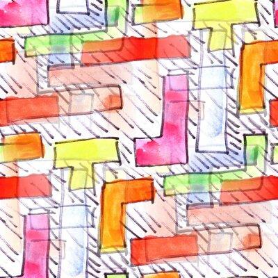 Quadro Murale strisce di colore di sfondo senza soluzione di modello