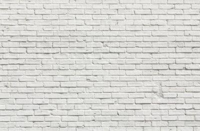 Quadro Muro di mattoni bianchi